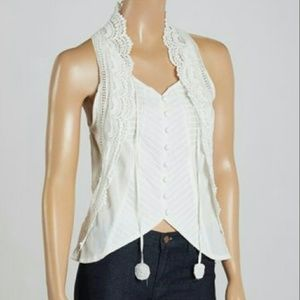 Aryeh Off-White Button Down Tank